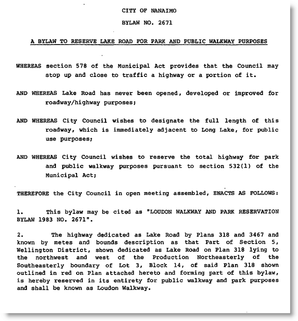 Text of the 1983 bylaw