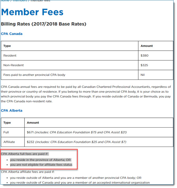 The fee Mema chose to pay is for Alberta residents
