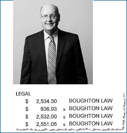 The city disclosed payments to George Cadman's firm in Ms. Samra's 2016 expenses report
